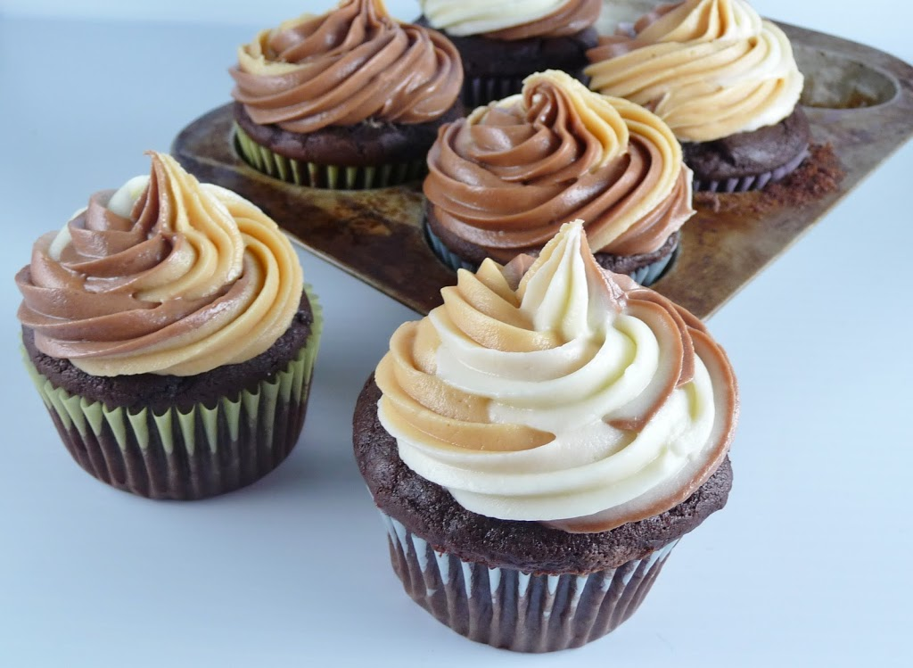 Nutella Cupcakes with Triple Cream Cheese Frosting ...