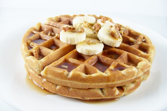Whole Wheat Banana Bread Waffles : Kendra's Treats