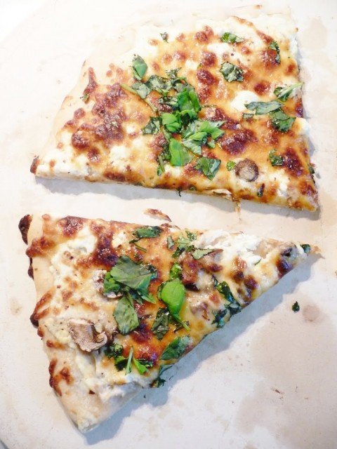 White Four-Cheese Pizza with Basil : Kendra's Treats