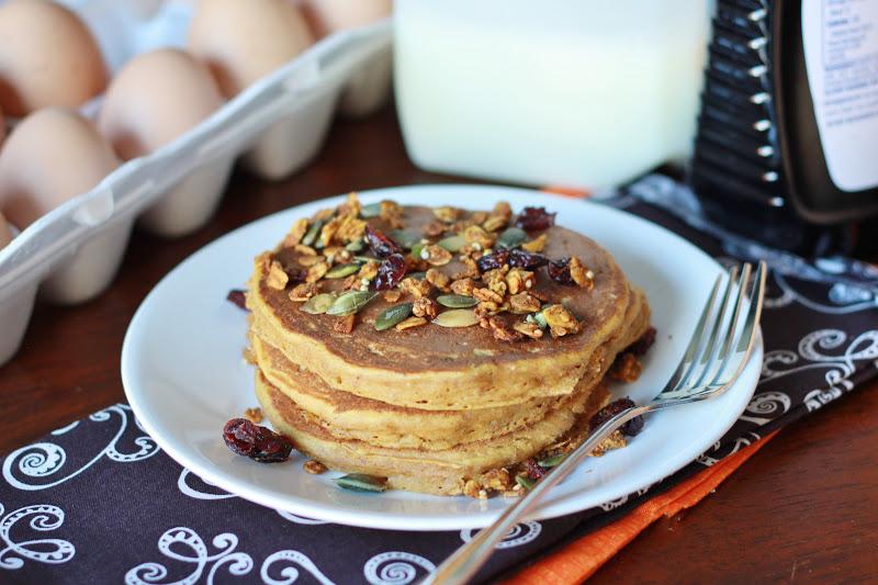 Whole Wheat Pumpkin Spice Pancakes : Kendra's Treats