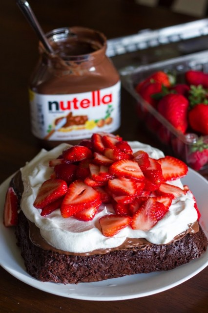 Strawberry Nutella Brownies Kendra S Treats
