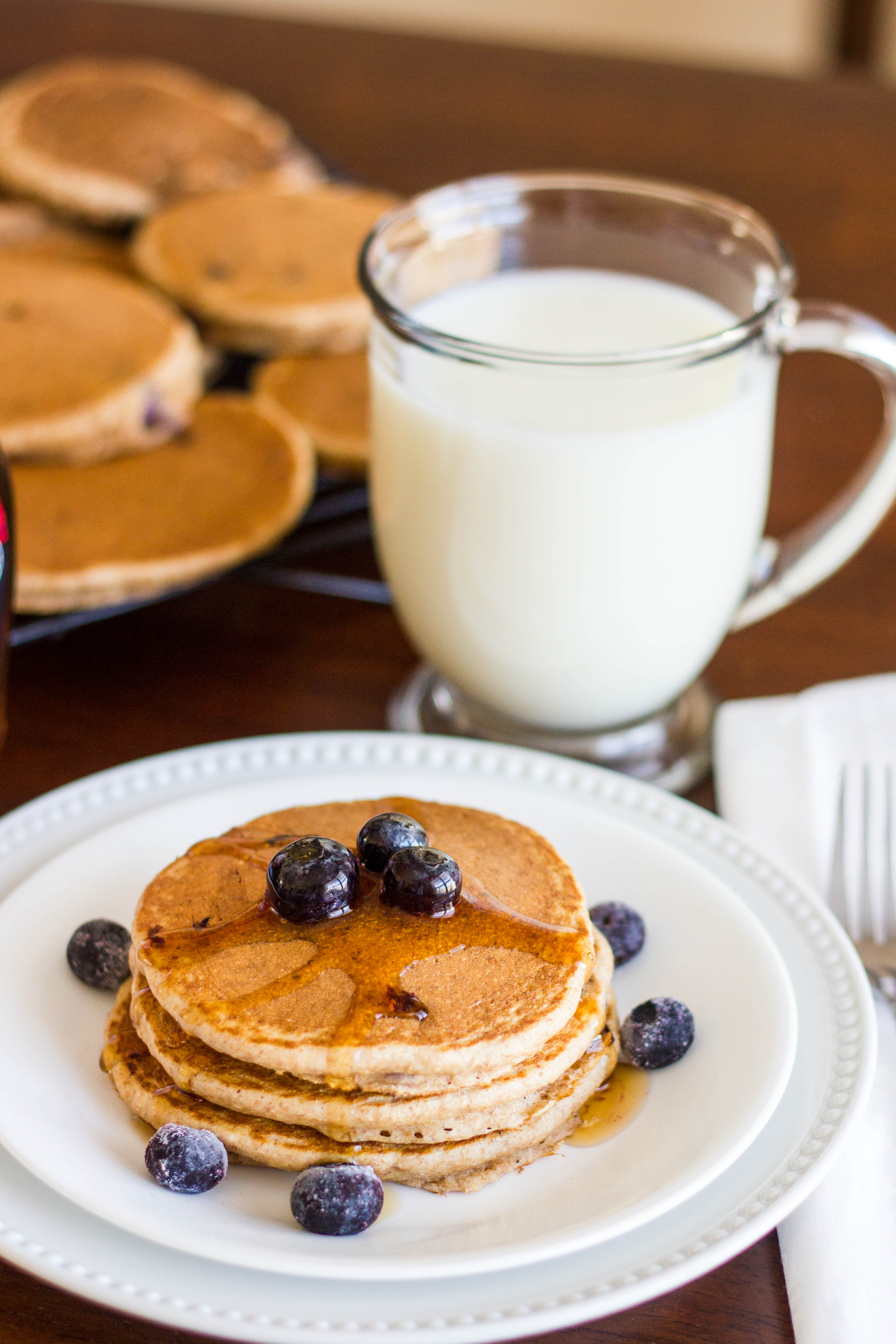 Blueberry Flax Pancakes : Kendra's Treats