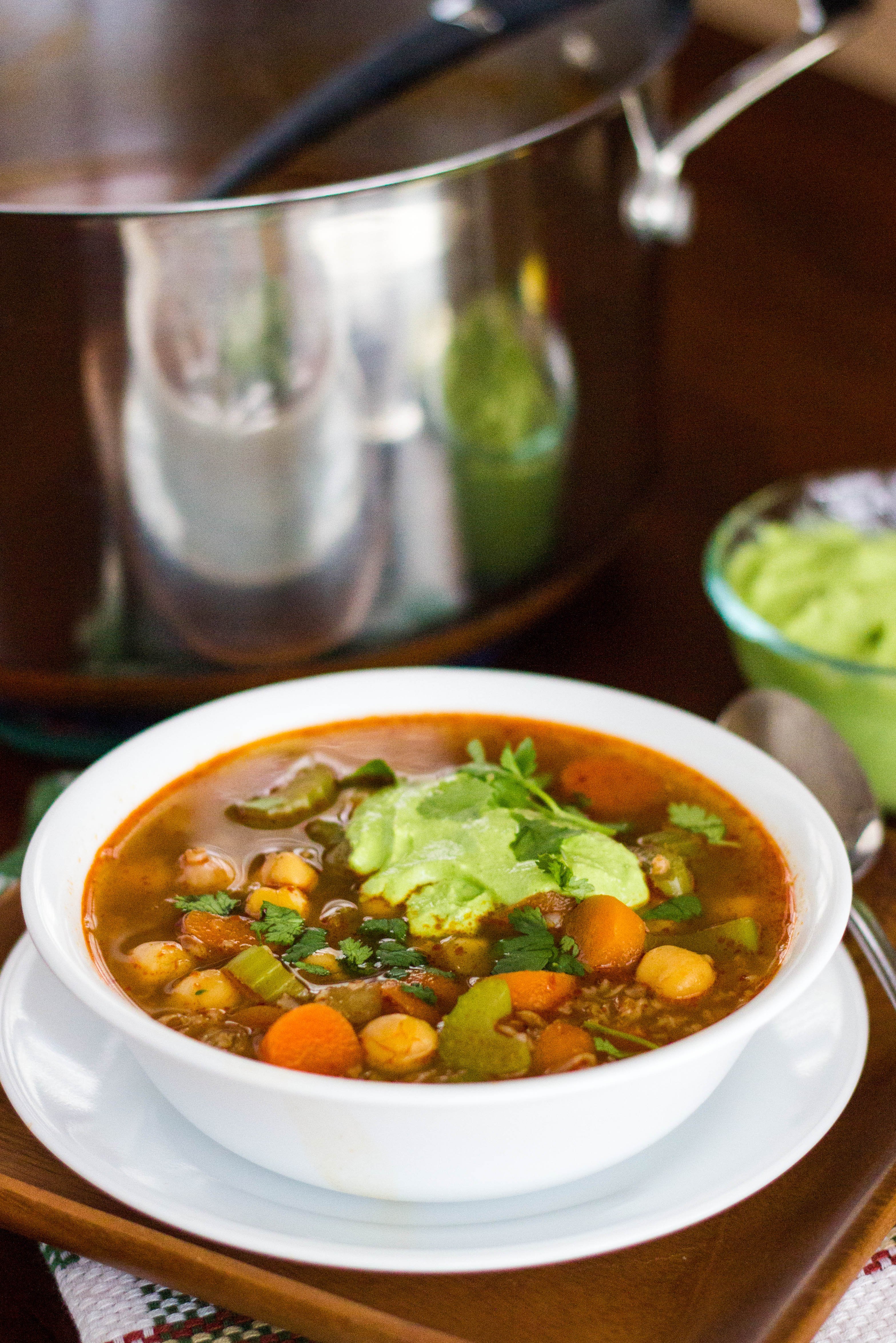 Spicy Chickpea and Bulgur Soup : Kendra's Treats