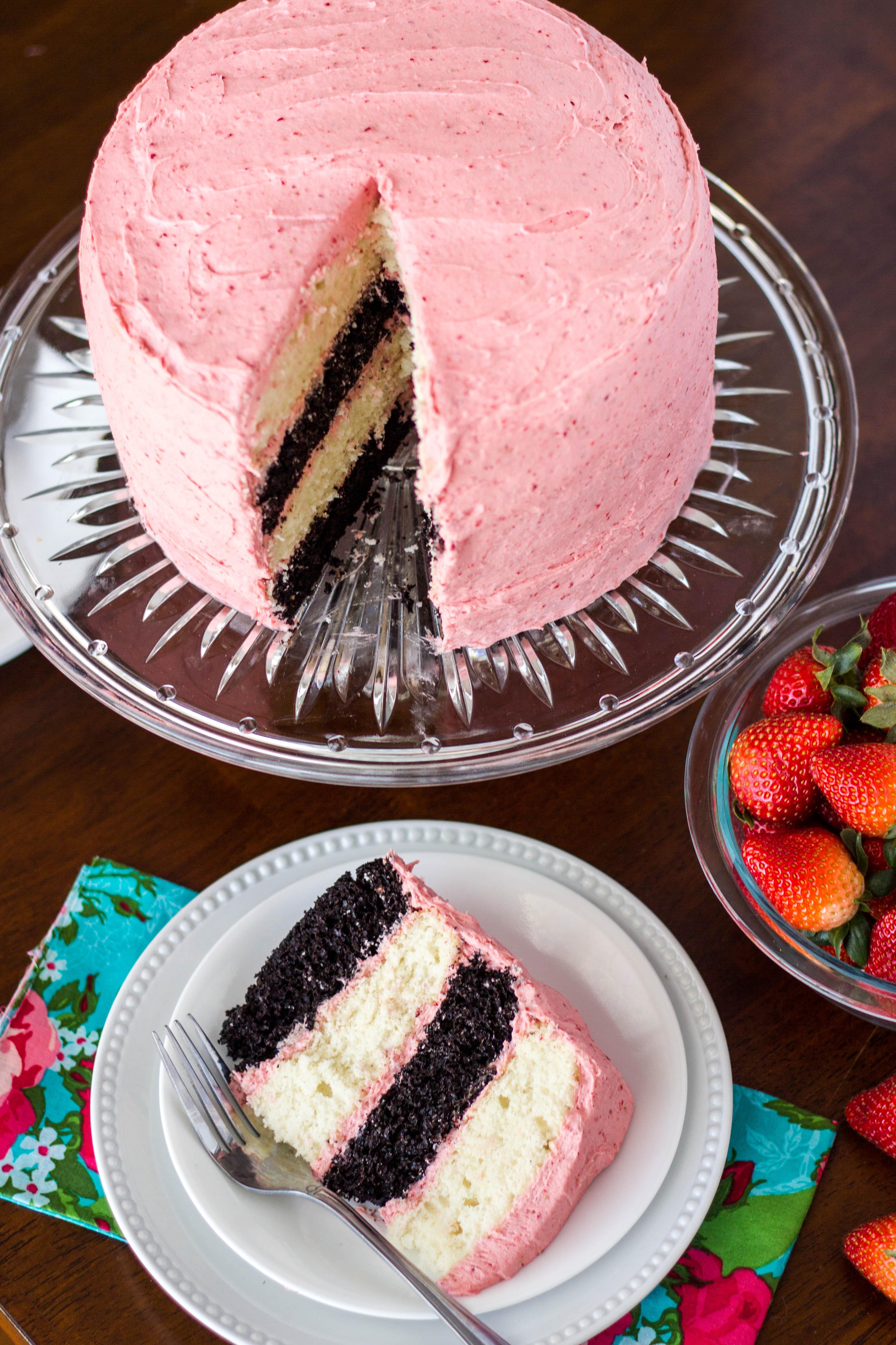 Neapolitan Layer Cake Kendra S Treats