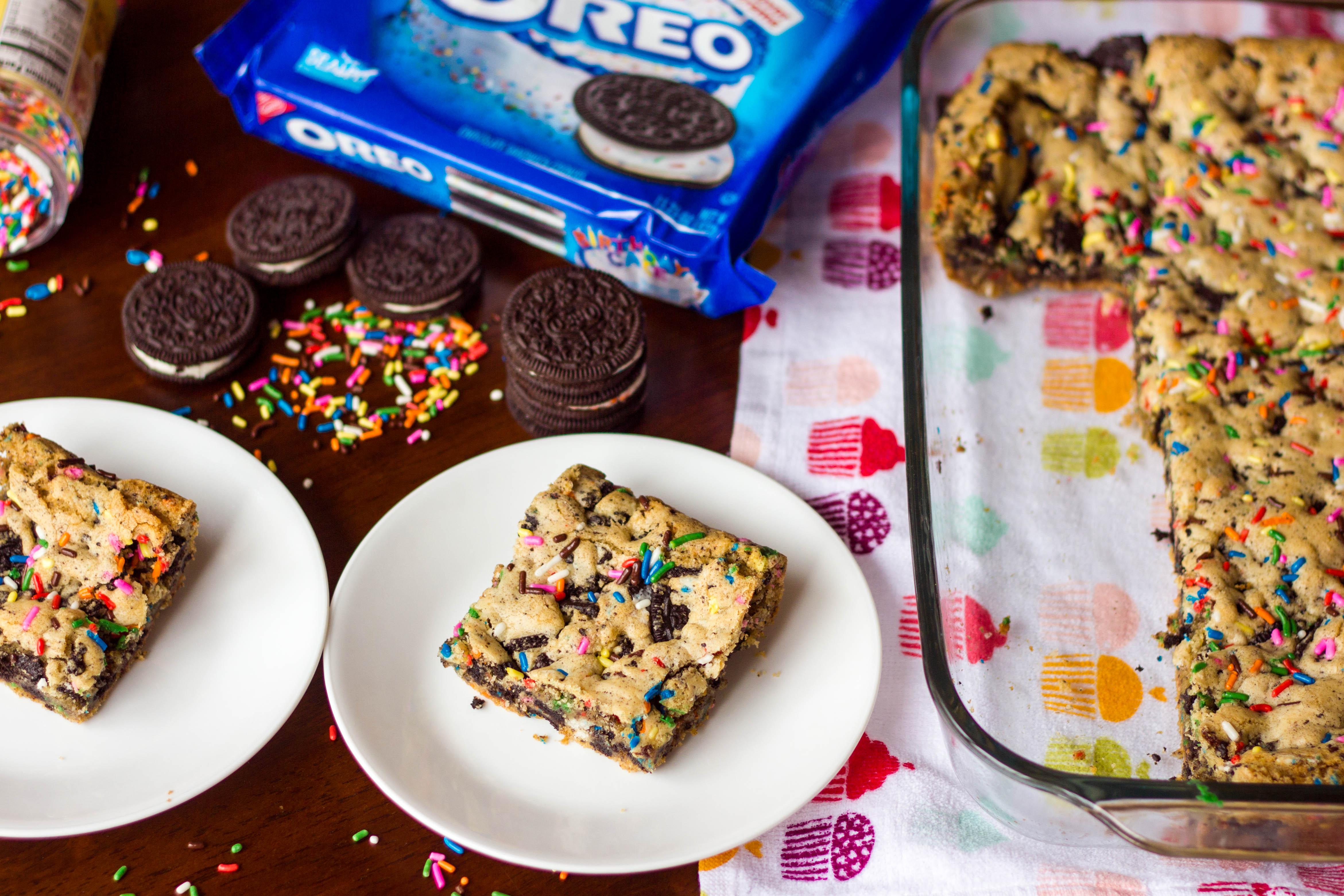 Birthday Cake Oreo Blondies Kendras Treats