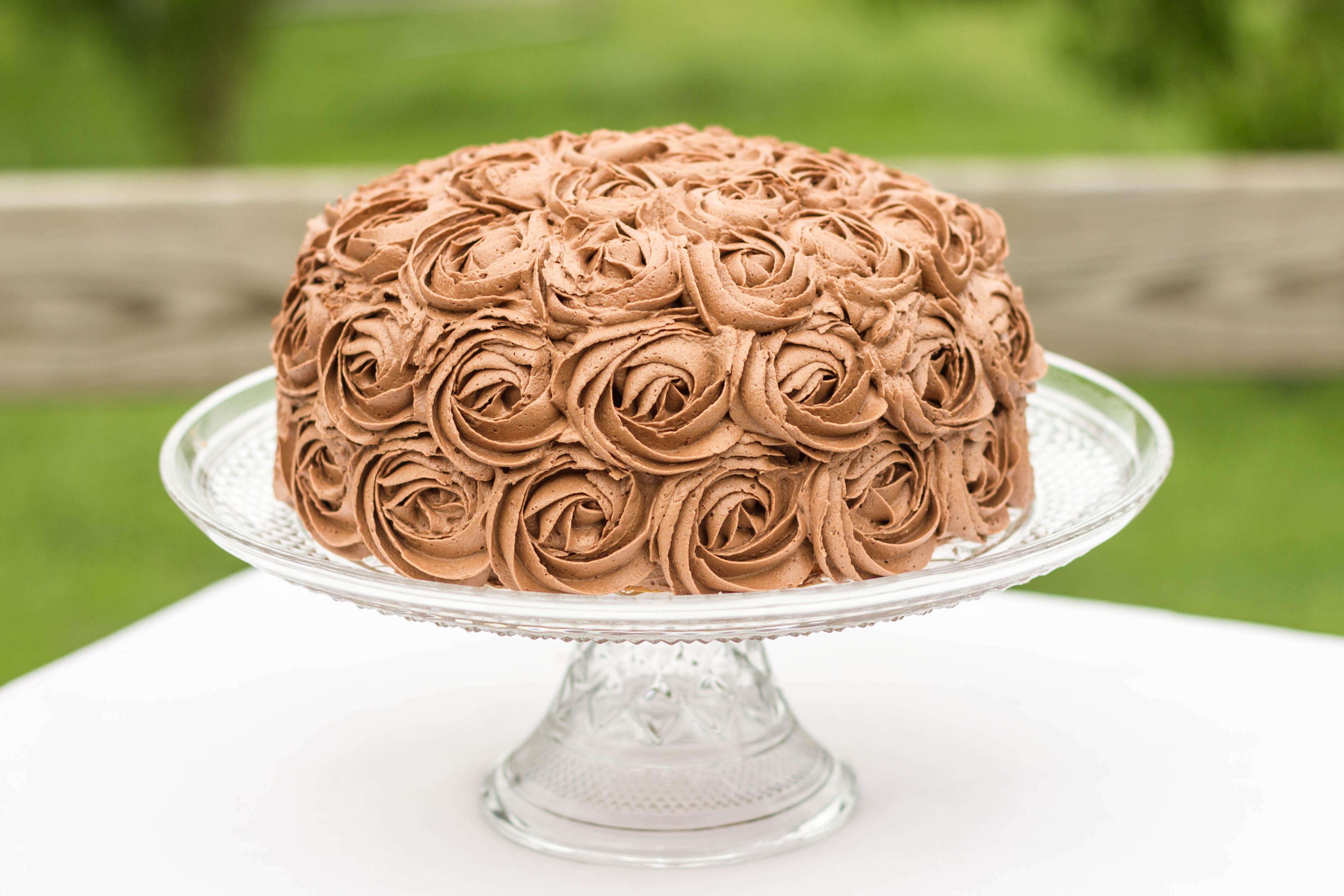 Chocolate Fudge Marble Rose Cake Kendra S Treats