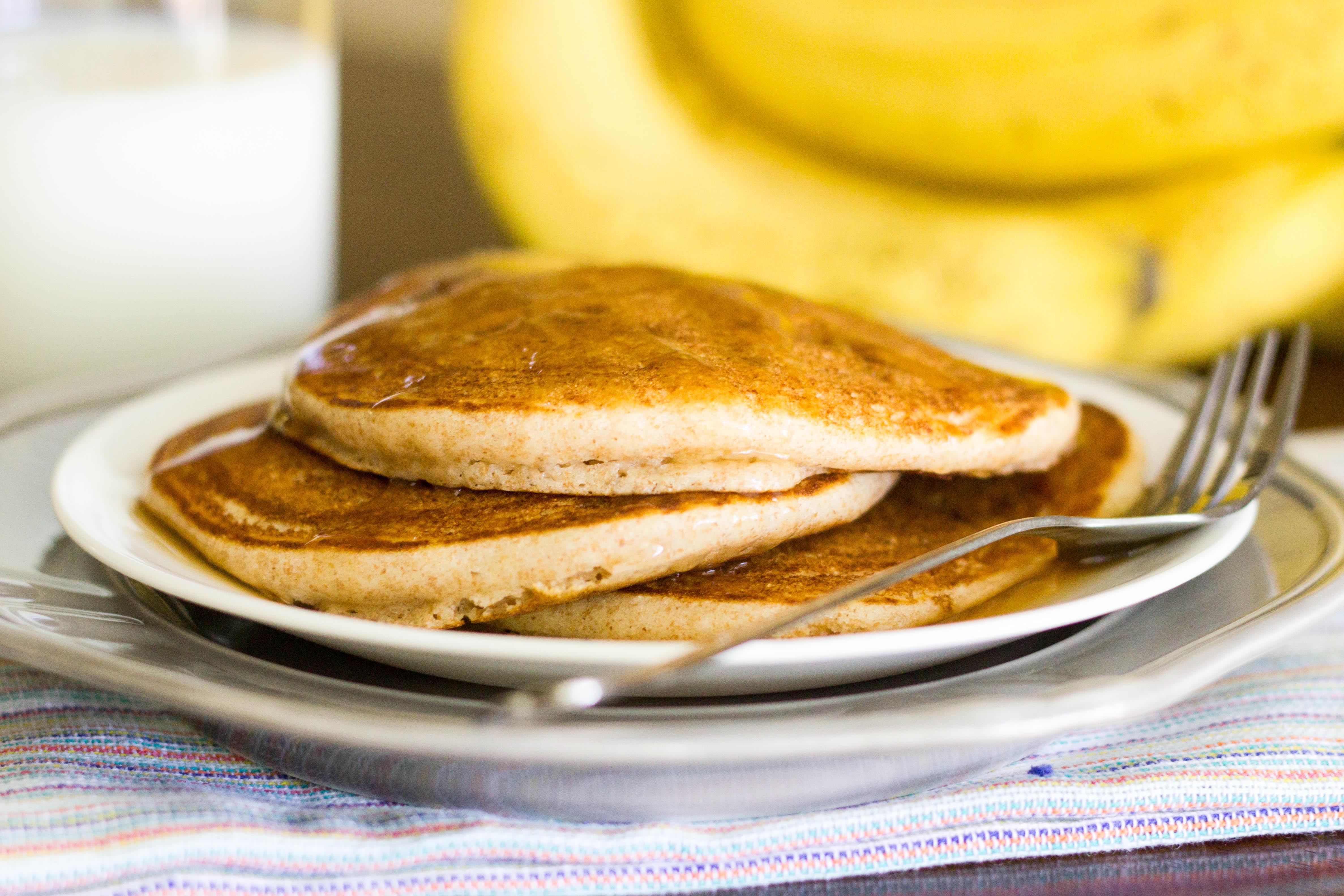 100 Percent Whole Wheat Pancakes Kendras Treats Country Kitchen Pancake Recipe