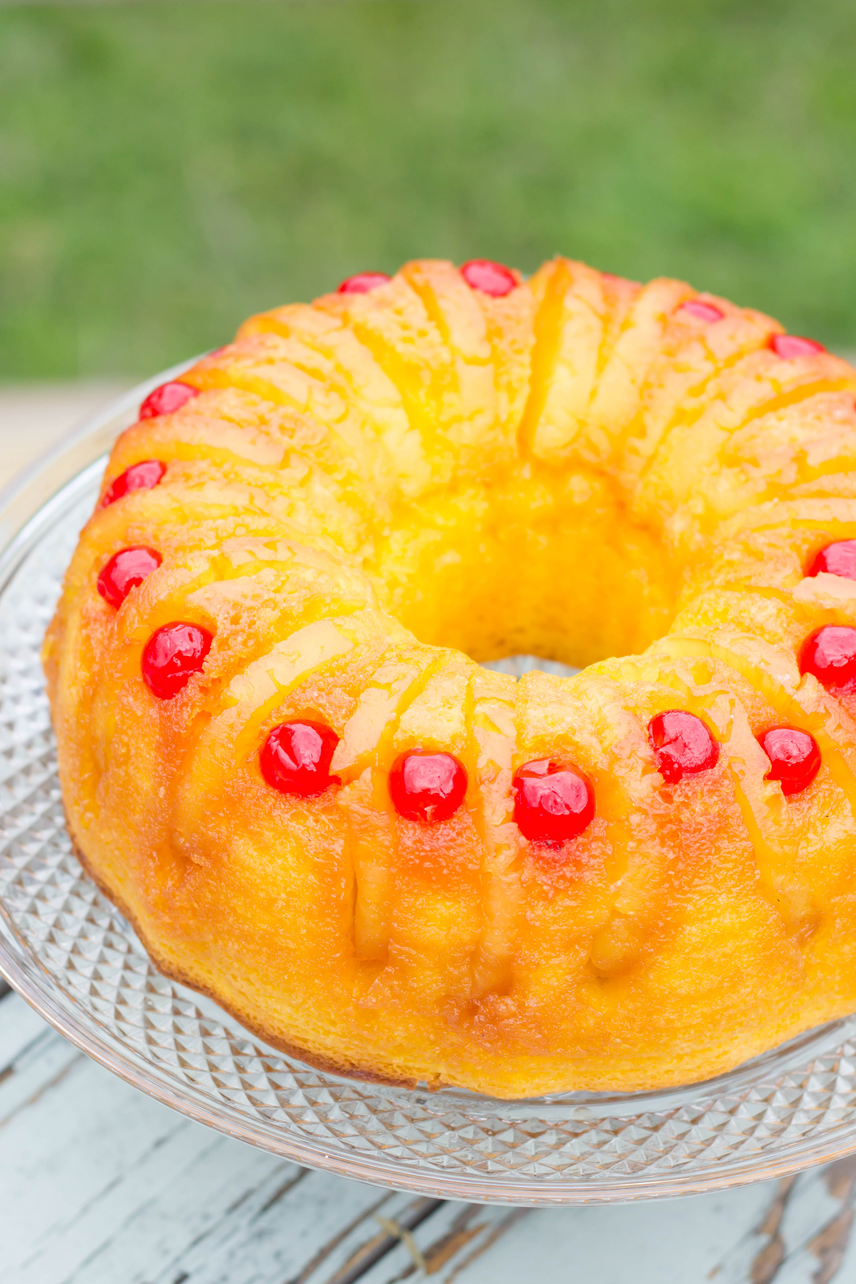 Pineapple Upside Down Cake Made With Cake Mix