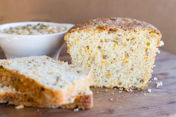 Bacon Cheddar Jalapeno Yeasted Cornbread : Kendra's Treats